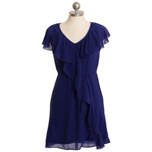 Endearing royal blue dress